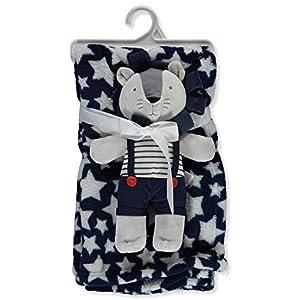 Bon Bebe Plush Print Blanket & Stuffed Animal Set – Multi, one Size