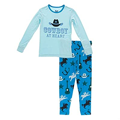 KicKee Pants Long Sleeve Piece Print Pajama Set (Amazon Cowboy - 4T)