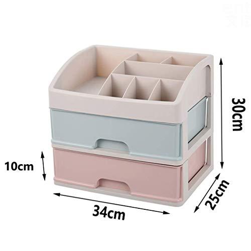 BOX Multicouche Type de Tiroir Cosmétiques Boîte de Rangement En Plastique de Bureau Rouge À Lèvres Bijoux Affichage Soins de La Peau Produits Boîte d