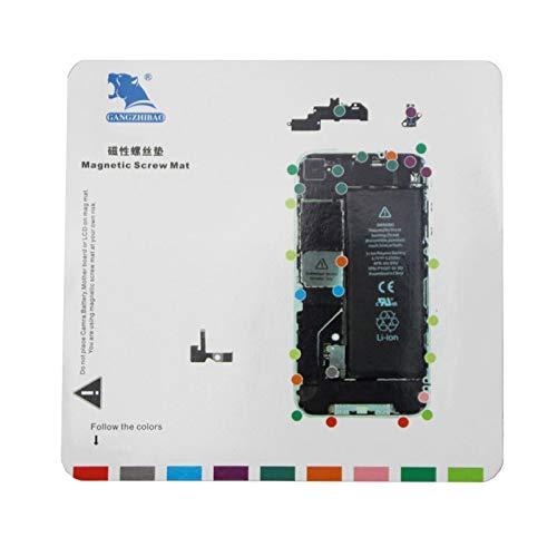 Dmtrab Tornillos magnéticos Esterilla de Reparación de Herramienta for el iPhone 4, tamaño: 20 cm x 19 cm (Blanco) Piezas de Repuesto (Color : White)
