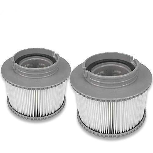 2PCS Filterelement Filterkartusche Pool-Filterkartuschen Whirlpool Filter Kartusche MSpa Filterkartusche für Mspa Aufblasbar Schwimmbad Heilbäder Filter