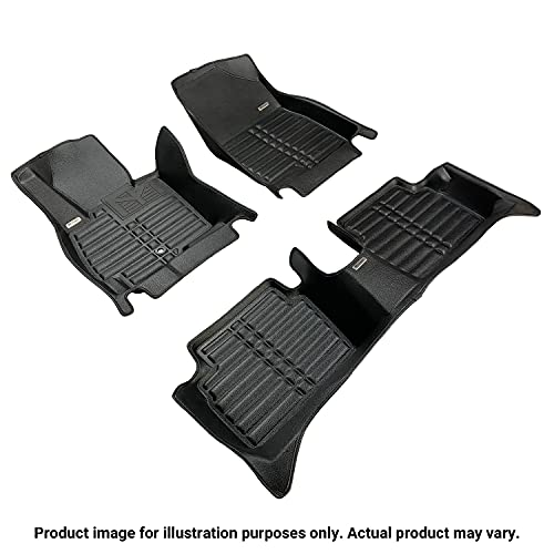 TuxMat Custom Car Floor Mats for BMW X6 2020-2021 Models- Laser Measured, Largest Coverage, Waterproof, All Weather. The BestBMW X6 Accessory (Full Set - Black)