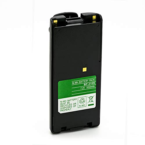 ExpertPower 7.2v 1650mAh NiMh High Capacity BP-209N BP-210N BP-222N Battery for ICOM IC-A6 IC-A24 IC-V8 IC-V82 IC-U82 Radio