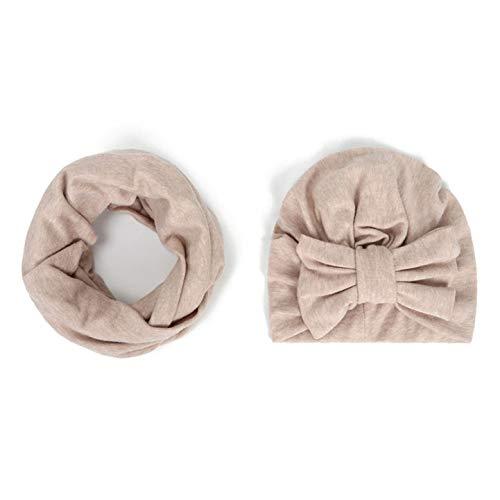 Cherry Cronin Onberispelijk Baby Winter Warm Children's Boog Hoed Sjaal Set Baby Effen Kleur Bloem Hoofddeksels Sieraden BG