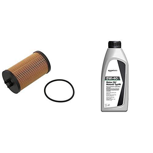 FEBI BILSTEIN 37257 filtro de aceite + Amazon Basics - Aceite de motor 5W-40 TypVR, 1l
