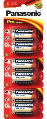 Panasonic Pro Power Gold LR14PPG Alkaline C Batterien, 6 Stück pro Packung (LR14, MN1400, AM2)