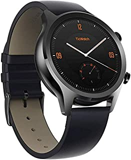 Mobvoi TicWatch C2, Wear OS by Google Classic smartwatch, IP68 Sweat and Waterproof, Google Pay, Compatible with iPhone and Android (Onyx)