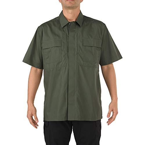 5.11 Tactical Men's Taclite Short Sleeve TDU Shirt, TDU Green, XX-Large/Tall