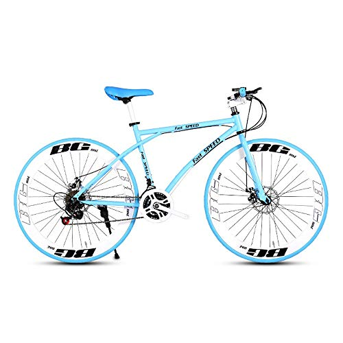 Lowest Price! LRHD Men's and Women's Road Bicycles, 24-Speed 26-inch Bicycles, Adult-only, High Carb...