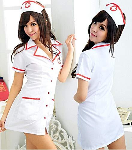 Ropa de dormir para mujer Corsés para mujer Sexy Lingerie Maid Nurse Costumes Babydoll Erotic Porno Sex Apparel Lingerie Sexy Hot Erotic Underwear Sleepwear Cosplay Uniform-NO_Stockings