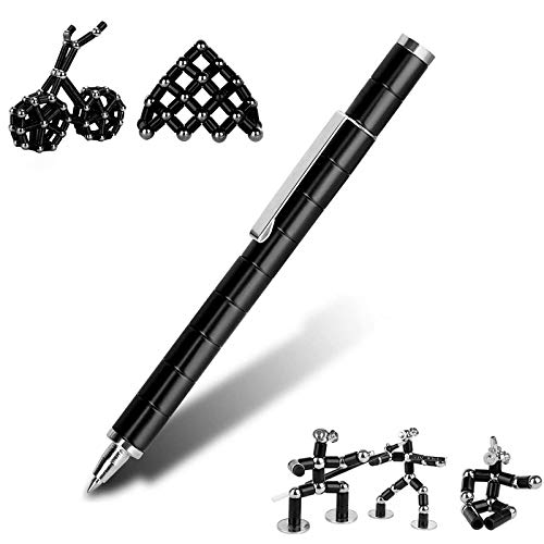 Bo-Po Magnetic Pen Toy, Creative Magnetic Sculpture Building Eliminate Pressure Fidget Toys Touch Screen Stylus Pen Gift for Family or Friends