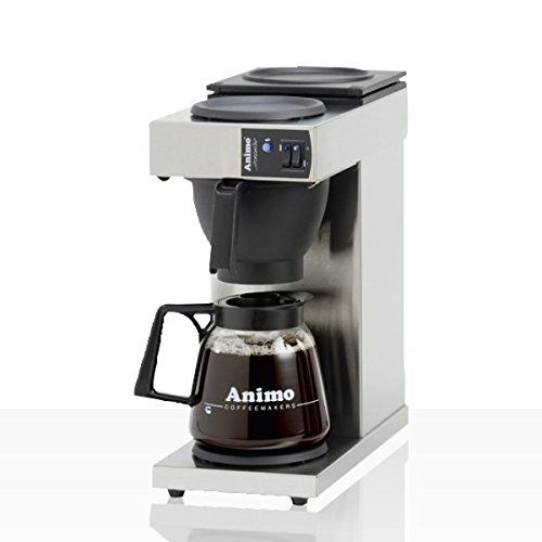 Animo Excelso Edelstahl Kaffeemaschine inkl. Glaskanne 1,8l
