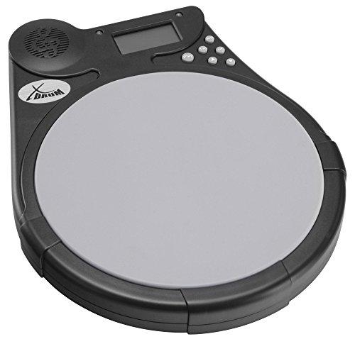 XDrum DT-950 Drum Trainer Rhythm Coach (Mute Drum Tutor, Silikon Pad, Metronom, Übungsprogramme, LCD Display, inkl. 9V Batterie)