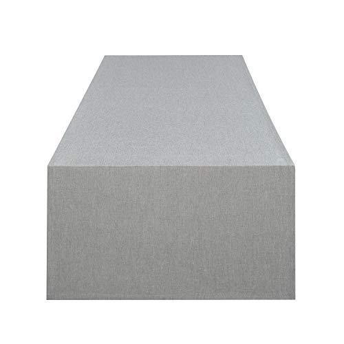 Runner da tavola VIENNA grigio, resinata antimacchia, adatta a tutto l'anno, 40x140 cm