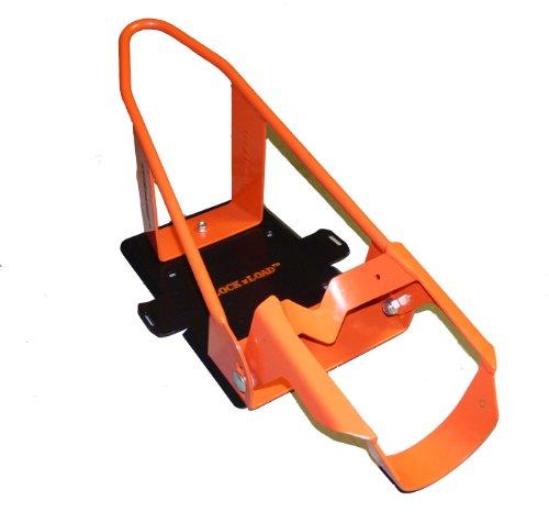 Lock N Load (BK100 Orange/Black Deluxe Motorcycle Wheel Chock