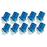 Yililay 10PCS LED Salpicadero Cua Bombillas T5 Panel de Instrumentos B8.5-1SMD Decoración COB para salpicadero Número Azul de la Placa