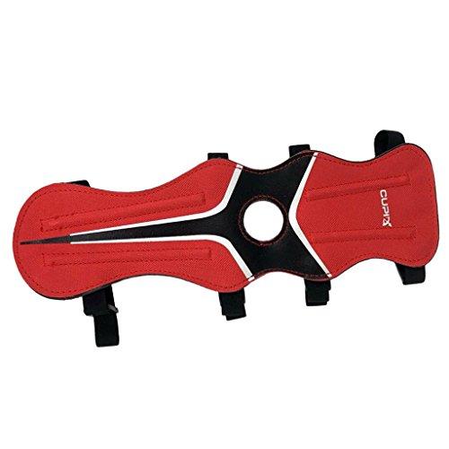 Magideal parabraccio de tiro con arco de nailon herramienta de caza, rojo