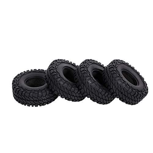 GoolRC 4PCS 110mm 1.9in Neumáticos de Goma para 1:10 RC Rock Crawler Compatible con Axial Traxxas Hsp Redcat Rc4wd Tamiya Axial Scx10 D90 Hpi RC Car