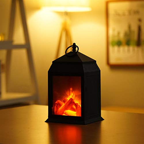 nobran Led Creative Fireplace Flame Lamp,modeling Lamp Nordic Style Decoration Christmas Ornament