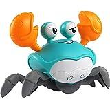 Spaß Interaktiv 3-6 Jahre alte Jungen und Mädchen Krabben-Bad-Spielzeug, niedliche Krabben-Push-Pull-Spielzeug, schwimmende Uhrwerk Schwimmen Krabben, Stranduhr-Badewanne Spielzeug Funny Family Spielz
