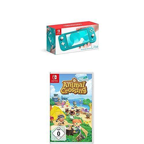 Nintendo Switch Lite, Standard, türkis-blau + Animal Crossing: New Horizons [Nintendo Switch]