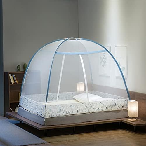 Depruies moskitonetz doppelbett Moskitonetz fenster, A29 Pop Up Moskitonetz für Doppelbett, Portable Zelt Travel Doppeltür Reißverschluss Bettnetz, einfache Installation, feinmaschig, für Schlafzimmer
