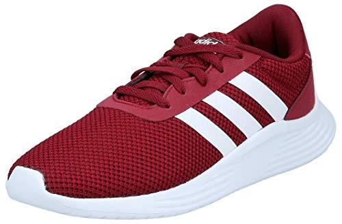 adidas Mens Lite Racer 2.0 Sneaker, Collegiate Burgundy/Footwear White/Core Black, 44 2/3 EU