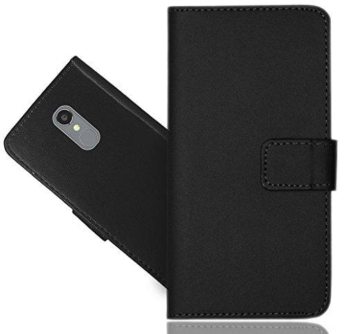 BLU VIVO 5R Case, FoneExpert Genuine Leather Kickstand Flip Wallet Bag Case Cover for BLU VIVO 5R