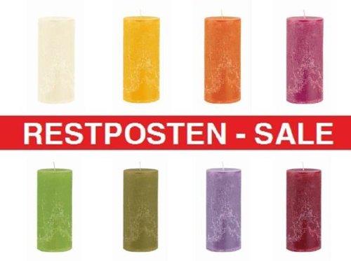 3 KG durchgefärbte Rustic Kerzen A-Ware, Markenkerzen aus dt. Produktion, Restposten, Sonderangebot
