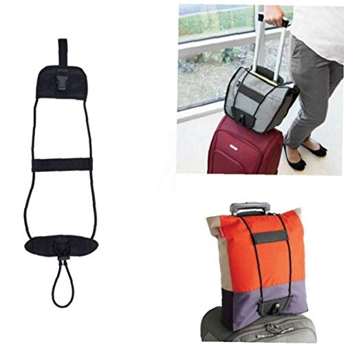 Froiny 1pc Luggage Strap, Elastic Suitcase Adjustable Belt Bag with Buckles, Travel Bag Parts Suitcase Fixed Belt