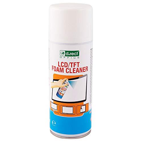 D.RECT Reinigungsschaum 400ml | Schaumreiniger für: Laptop, Tablet, Smartphones, LCD/TFT, LED, OLED mit Anti-Statik-Schutz