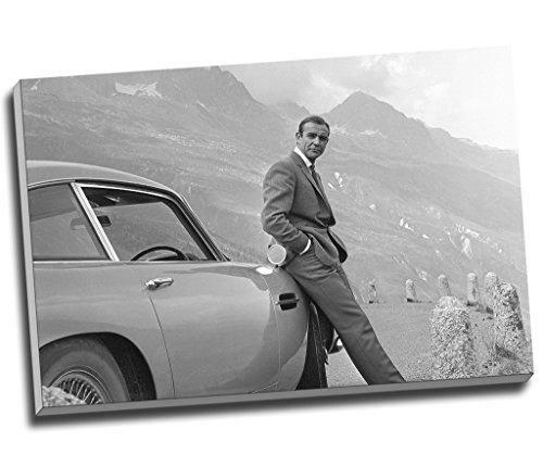 Sean Connery 007James Bond Aston Martin DB5Wall Art Print auf Leinwand Bild Kunstdruck auf Leinwand groß A176,2x 50,8cm (76.2cm x 50.8cm)