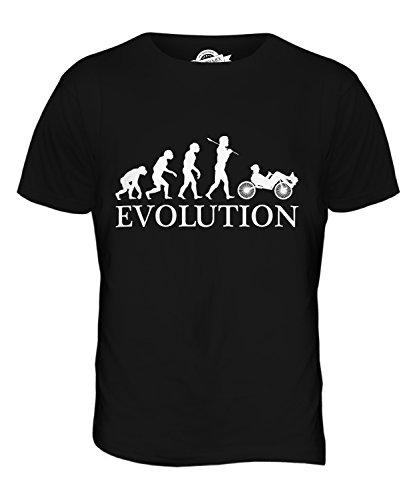 Candymix Liegerad Evolution des Menschen Herren T Shirt, Größe 3X-Large, Farbe Schwarz