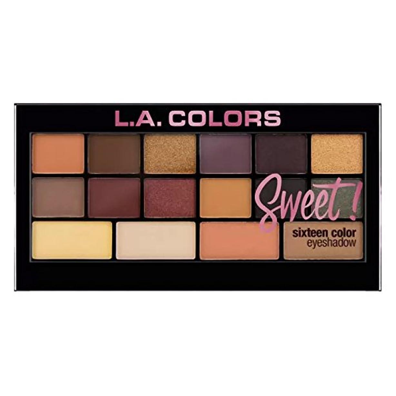 騒伝導率海洋(6 Pack) L.A. Colors Sweet! 16 Color Eyeshadow Palette - Brave (並行輸入品)