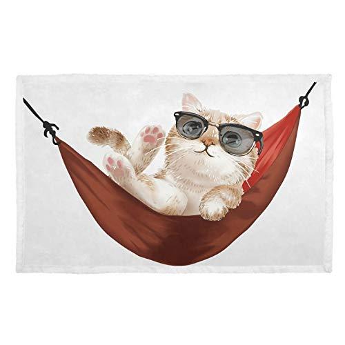 Hengpai Manta para gatos con estampado cálido y texto en inglés «Slogan» para mascotas, diseño de gato, color rojo