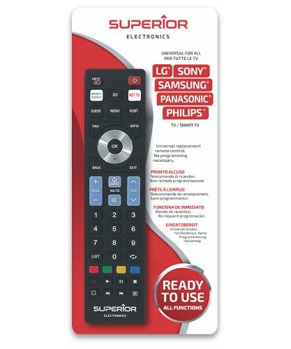 Superior Ready5 SMART - Telecomando universale compatibile con tutti i TV e SMART TV delle mrche LG, SAMSUNG, SONY, PHILIPS e Panasonic - Pronto all uso non richiede programmazione