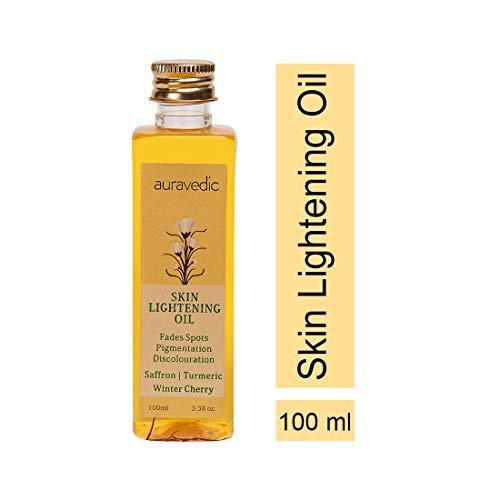 Auravedic Skin Lightening Oil with Saffron, Turmeric and Winter Cherry 100 Ml by Auravedic
