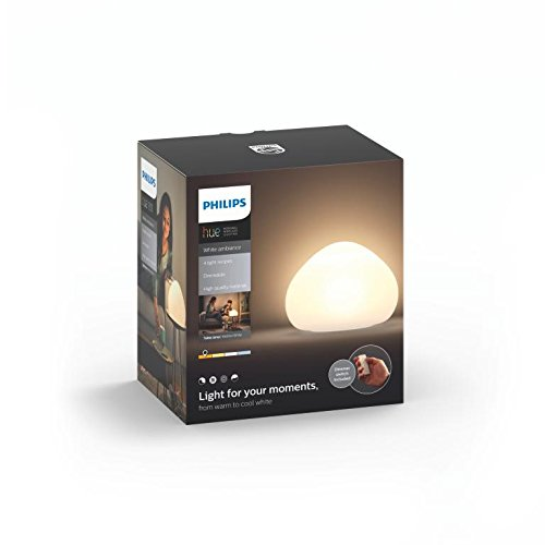 Philips Hue LED Tischleuchte Wellner inkl. Dimmschalter, alle Weißschattierungen, steuerbar auch via App, Glas, weiß, 4440156P7 - 3