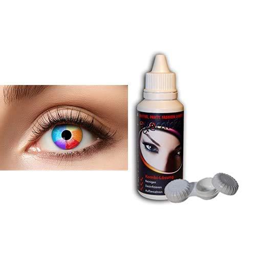 Zoelibat - Eyecatcher Kontaktlinsen mit 50ml Kombilösung und Kontaktlinsenbehälter