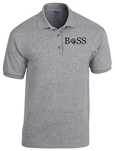 zagorka Skoda BOSS Auto Logo car Poloshirt Polo 100% Baumwolle - 4037 Grau (L)