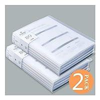ファイルフォルダ 80-ポケットバウンドシートプロテクタープレゼンテーションブック、160ページ容量ファッションプレゼンテーションブックA4シートオーガナイザークリアブックポートフォリオフォルダ 拡張可能なファイルフォルダ (Color : A)