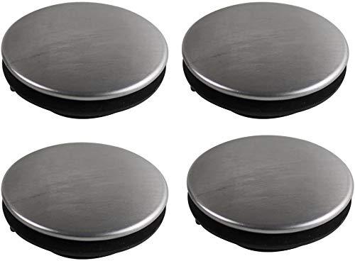 4Paquetes orificio de grifo de fregadero de cocina tapón obturador placa de la cubierta Disco, sus 304Acero inoxidable, para Φ 1~ 1.4inch (28–44mm)