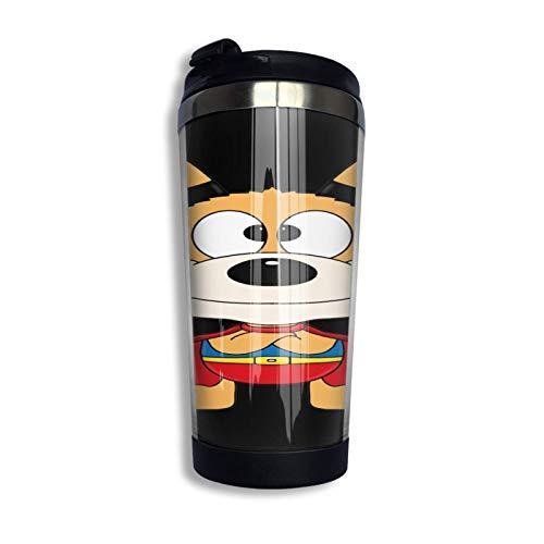 DJNGN Hund Dog Erheld Kinder Tier Kids Baby Animal Fun Pullover Hoodie Coffee Travel Mug Taza Vaso aislado al vacío de acero inoxidable 13.5 Oz