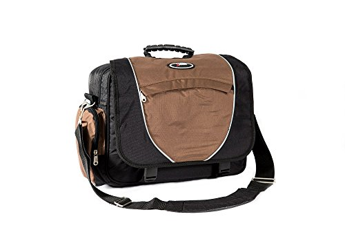 everest Unisex-Adult Xtreme Deluxe Laptop Messenger Bag, Brown/Black, One...