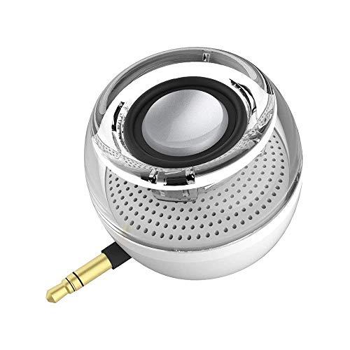 Tragbarer Mini-Lautsprecher, Handy-Lautsprecher mit 250 mAh Lithium-Akku, Line-In Lautsprecher mit klarem Bass, 3,5 mm AUX-Audio-Schnittstelle, Plug and Play für iPhone, iPad, iPod, Tablet