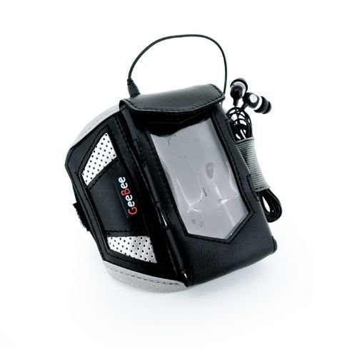 GeeBee Ultimo - Sports / Fitnessstudio MP3 / Handy Sportarmband tasche in Größe: L / Farbe: Schwarz / Kompatibel mit (Sony Walkman NWZ-S540 series / NWZ-S544 series / NWZ-S545 series / NWZ-A845 A845 / NWZ-A840 A840 / NWZ-F806 / NWZ-F886 / NWZ-E474 / NWZ-E574 / NWZ-E585 / NWZ-E384 / Xperia Z1, Z, X, C, L, E / Nexus 4, Nexus 5 / Blacberry Xurve, Bold, Torch, Z10, Z30, Q10, Q5)