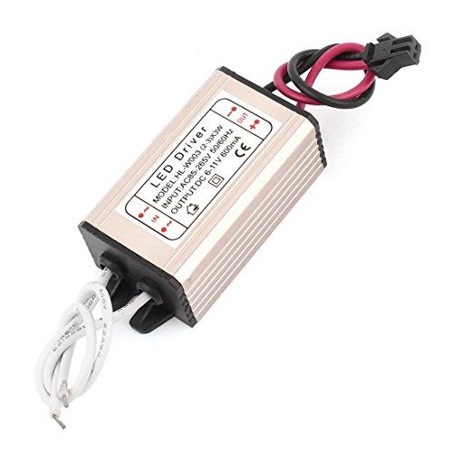 Impermeabile del driver LED di alimentazione CA 85-265V di CC 6-11V 600mA 2-3x3Watt