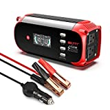 BELTTT 500W Car Power Inverter DC 12V to 110V AC Converter with LCD Intelligent Digital Display and 4 Smart USB Charger Ports