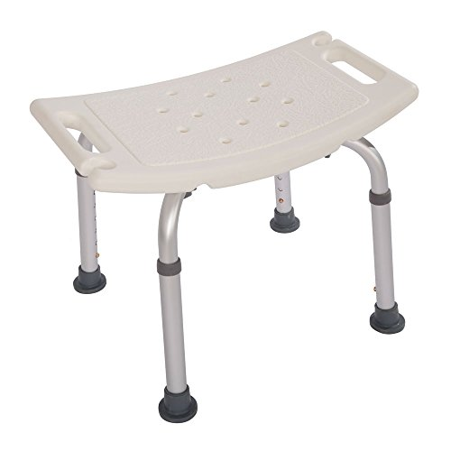 Z ZTDM 450LBS Shower Chair Medical Adjustable Height Bath Seat Stools Bench with Antiskid Feets for Elderly (No back)