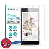 smartect Panzerglas kompatibel mit Sony Xperia Z5 [2 Stück] - Bildschirmschutz mit 9H Festigkeit - Blasenfreie Schutzfolie - Anti Fingerprint Panzerglasfolie